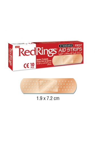 REDRINGS FIRST AID STRIPS STANDARD 10 PCS