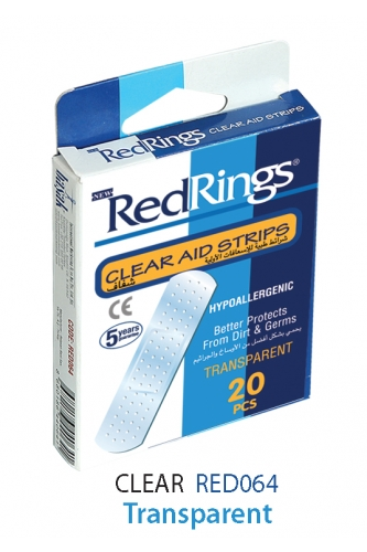 REDRINGS FIRST AID STRIPS CLEAR 20 PCS