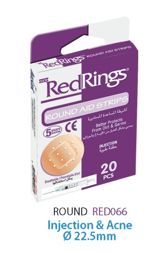 REDRINGS FIRST AID STRIPS ROUND 20 PCS