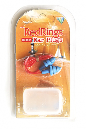 REDRINGS EAR PLUGS RUBBER CORDED 2 PCS