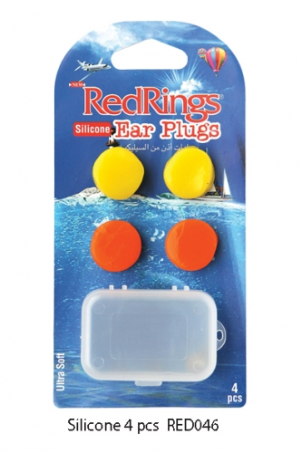 REDRINGS EAR PLUGS SILICONE 4 PCS