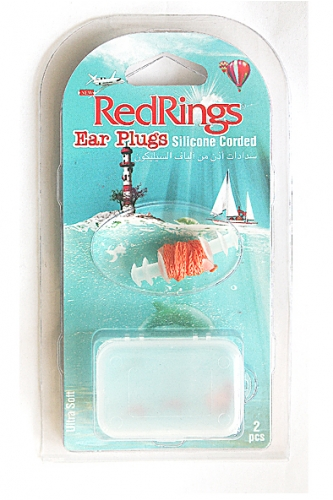 REDRINGS EAR PLUGS SILICONE CORDED 2 PCS