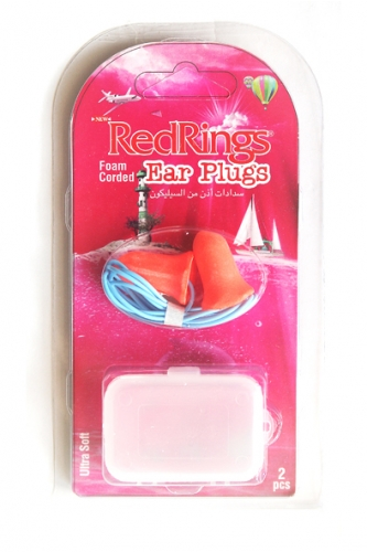 REDRINGS EAR PLUGS FOAM CORDED 2 PCS